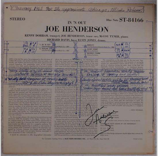 Joe Henderson Autograph