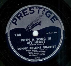 Sonny Rollins, Prestige 78